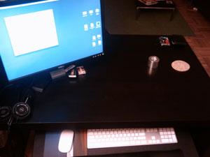 Dash's desk