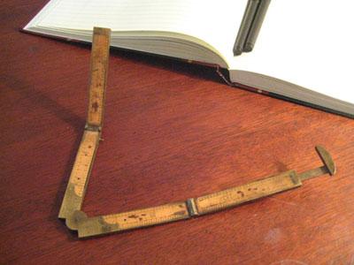 Tom's antique folding ruler