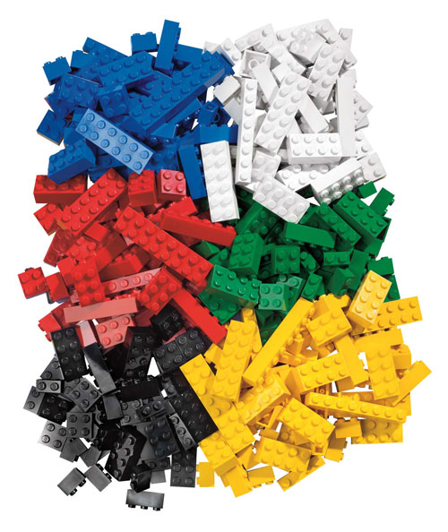 Selection of Lego pieces