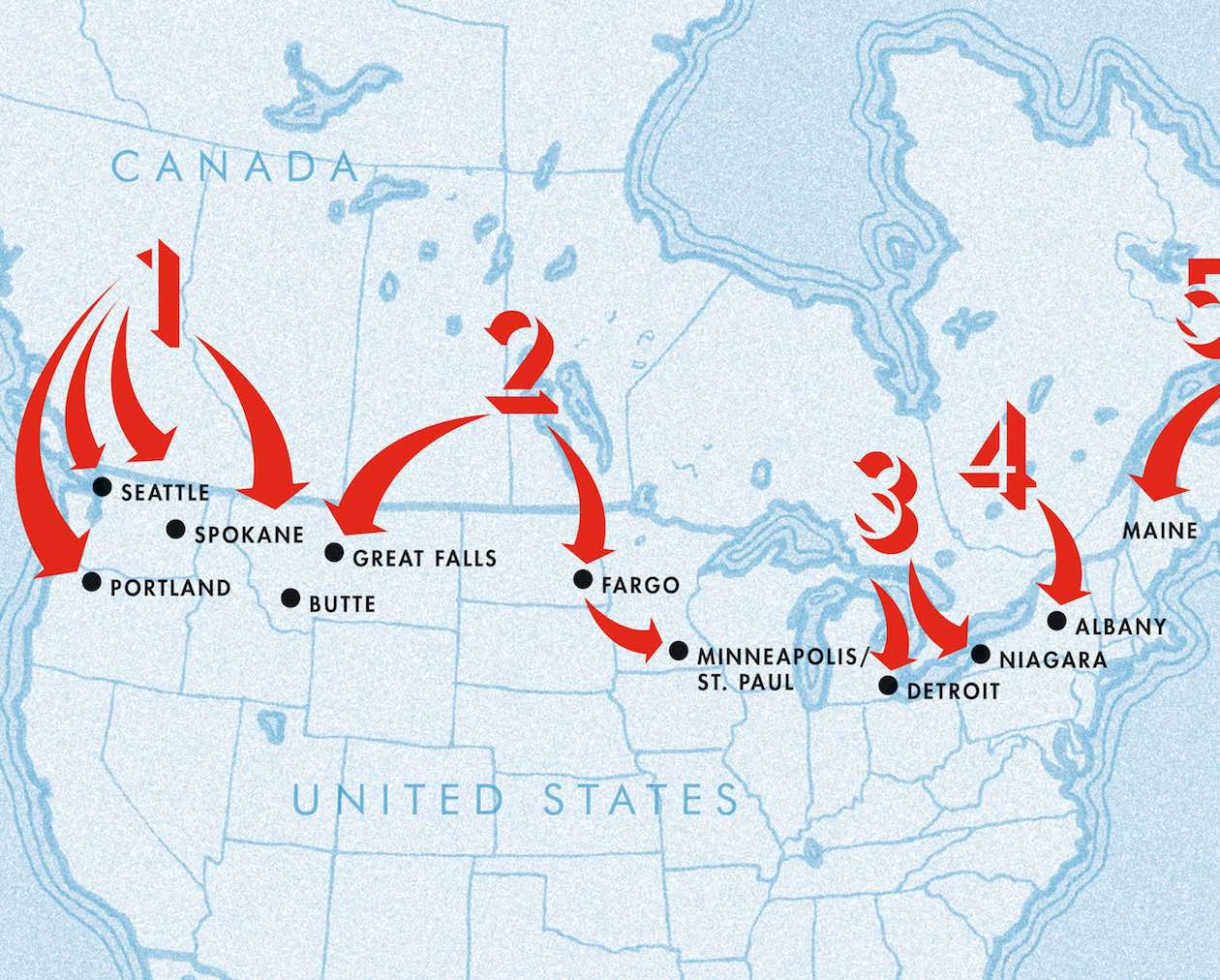 War Plan Red The Morning News - Why an invasion of us would fail map
