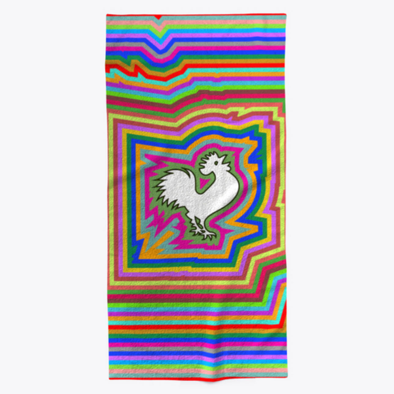 The Infinity Rooster Finds Its Way To Your Beach Chair, With A Towel You  Could Spot From The Breakers. New Batches Print Every Three Daysu2014order  Yours Now.