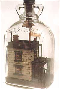 Side view of the Bottle House